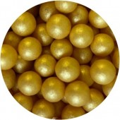 7mm Gold Glimmer Pearls 80g