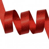 15mm Red Sparkle Ribbon