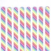 Popsicle Sticks Pk/8 - Rainbow Stripes