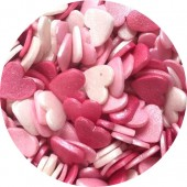 Glimmer Candy Floss Hearts 65g