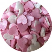 Glimmer Pink & Mother of Pearl Hearts 65g