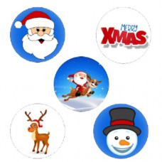 Cute Christmas Cupcake Toppers - 15 x 2""