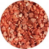 Glimmer Mini Red Hearts 65g