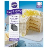 "Wilton Easy Layers 6"" Square Cake Pans Set/4"