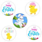 Happy Easter Cupcake Toppers - 15 x 2""