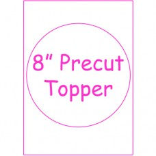 "8"" Round Precut Edible Image"