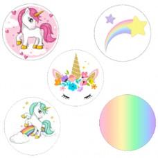 Pastel Unicorn Cupcake Toppers Pk/15