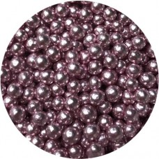 4mm Pink Metallic Pearls 80g