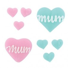Mother's Day Sugar Decorations Pk/56