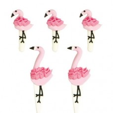 Decora Flamingos Sugar Decorations Pk/5