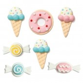 Decora Sweet Sugar Decorations Pk/7