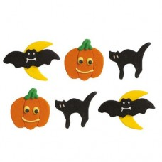 Decora Halloween Sugar Decorations Pk/6