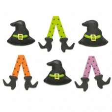 Decora Witch Sugar Decorations Pk/6
