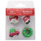Culpitt Christmas Gems Sugar Pipings Pk/12