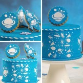 Decora Cake Stencil - Space