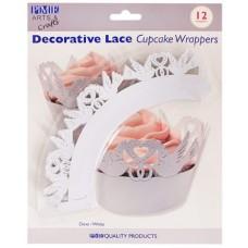 PME White Dove Cupcake Wrappers Pk/12