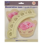 PME Ivory Rose Cupcake Wrappers Pk/12