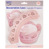PME Pink Rose Cupcake Wrappers Pk/12