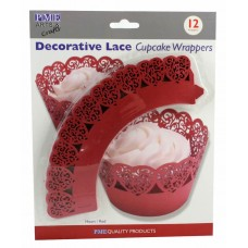 PME Red Heart Cupcake Wrappers Pk/12
