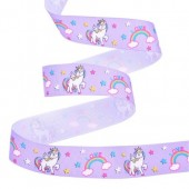 25mm Lilac Unicorn Ribbon
