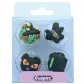 Witch & Cat Sugar Pipings Pk/12