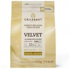 2.5kg Callebaut Belgian Velvet White Chocolate 32%
