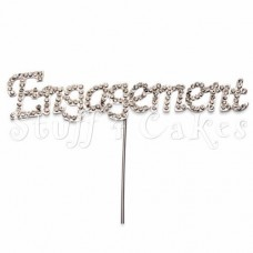 Diamante 'Engagement' Topper