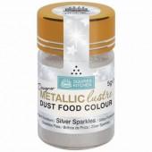 Squires Designer Metallic Lustre Dust - Silver Sparkles