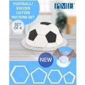PME Football/Soccer Pattern Cutters Set/4