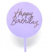 Lilac Happy Birthday Paddle - Acrylic