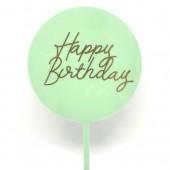 Mint Green Happy Birthday Paddle - Acrylic