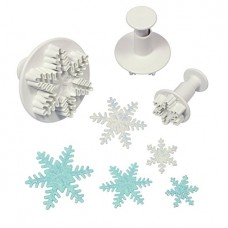 PME Snowflake Plunger Cutters Set/3