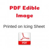 PDF Image Printed on Icing Sheet