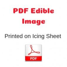 PDF Image Printed on Icing Sheet