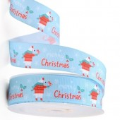 Polar Bear Merry Christmas Ribbon 25mm