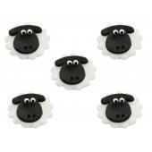 Sheep Sugarcraft Toppers Pk/5