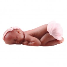 Edible Marzipan Baby Girl Black