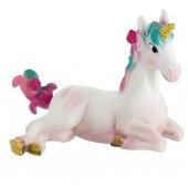 Unicorn Foal Multicoloured Cake Topper 3""