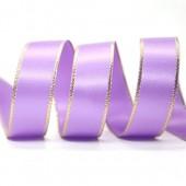 15mm Gold Edge Ribbon - Grape