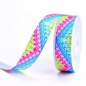 25mm Bright Coloured Diamond Ribbon