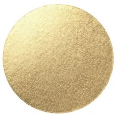 """10"""" Round Double Thick Card - Pale Gold"""