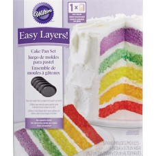 "Wilton Easy Layers 6"" Round Cake Pans Set/5"