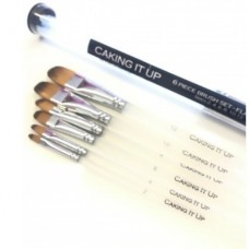 Caking It Up - Flat Tip Brush Set/6