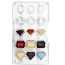 Decora Chocolate Mould - Gems