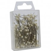 Ivory Pearl Top Pins Pk/144