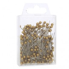Gold Pearl Top Pins Pk/144