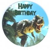 Printed Acrylic Paddle - Dinosaur Happy Birthday