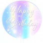 Printed Acrylic Paddle - Happy Birthday Magic Sparkles