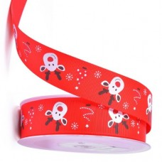 Cute Reindeer Ribbon 25mm