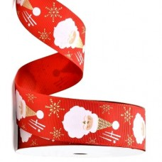 Gold Foil Santa Ribbon 25mm
